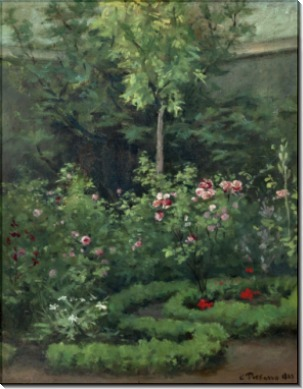 Розы в саду - Писсарро, Камиль