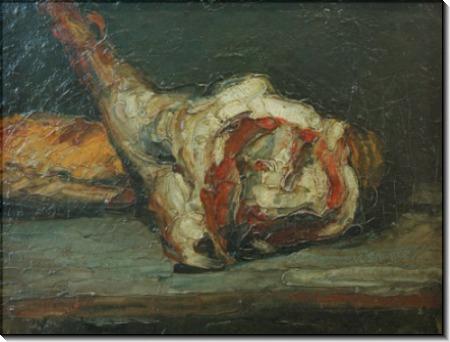 Баранья нога и хлеб - Сезанн, Поль