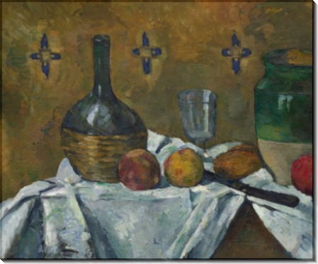 Натюрморт с бутылкой, бокалом и кувшином - Сезанн, Поль