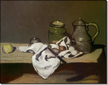 Натюрморт с чайником - Сезанн, Поль