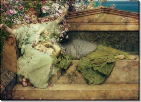 В розовом саду - Альма-Тадема, Лоуренс