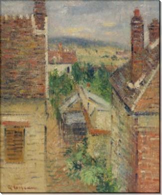 Вид на город с чердака дома - Луазо, Гюстав