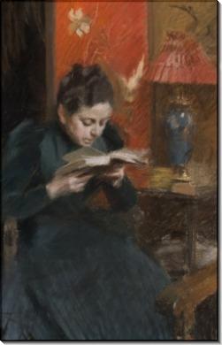 Жена художника за чтением - Цорн, Андерс