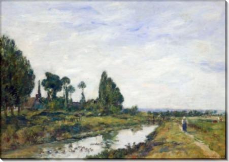 Маленький канал в Кильбуфе - Буден, Эжен