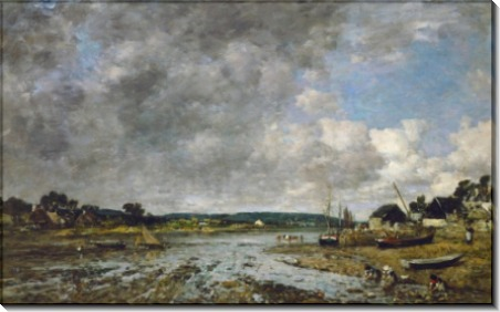 Нормандский пейзаж с прачками - Буден, Эжен