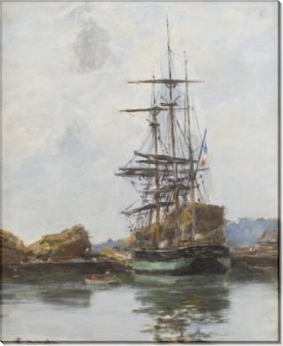 Трехмачтовый корабль в порту Довиля - Буден, Эжен