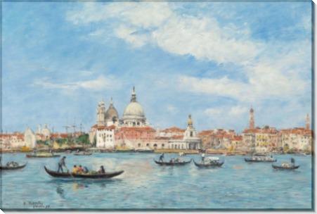 Пейзаж с видом на Венецию из лагуны - Буден, Эжен