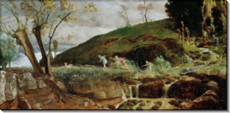 Пейзаж с охотой Дианы - Бёклин, Арнольд