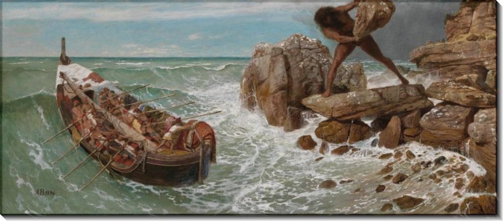 Одиссей и Полифем - Бёклин, Арнольд