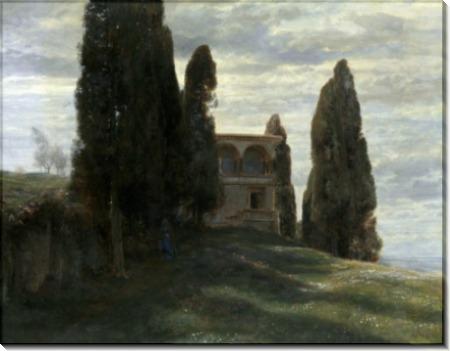 Весенний пейзаж с итальянской виллой - Бёклин, Арнольд