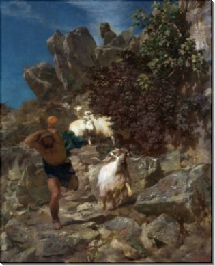 Фавн, спугнувший пастуха - Бёклин, Арнольд
