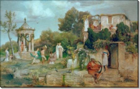 Праздник в Древнем Риме - Бёклин, Арнольд