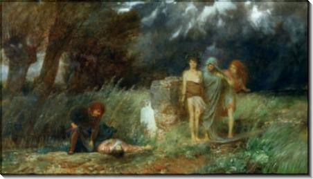 Фурии, преследующие убийцу - Бёклин, Арнольд
