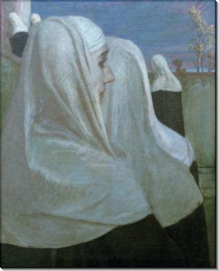 Монахини, идущие в церковь - Бёклин, Арнольд