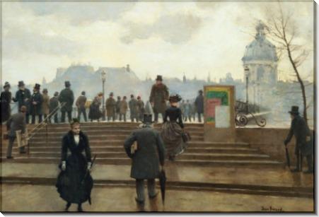 Набережная Сены у моста искусств в Париже - Беро, Жан