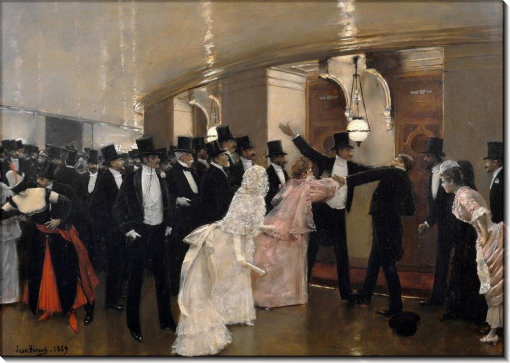Аргументы в коридоре Парижской оперы - Беро, Жан