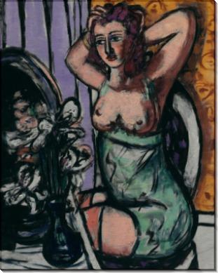 Женщина с зеркалом и орхидеями - Бекман, Макс