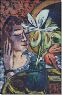 Женщина с орхидеей - Бекман, Макс