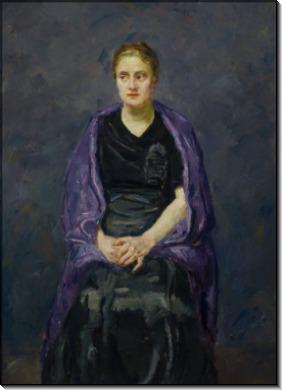 Портрет дамы с фиолетовой шалью - Бекман, Макс