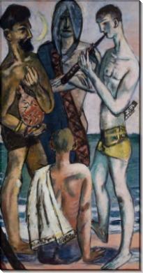 Молодые мужчины у моря - Бекман, Макс