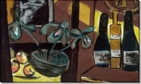 Натюрморт с орхидеями и бутылками - Бекман, Макс