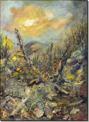 Готический пейзаж с нимфой - Бекман, Макс