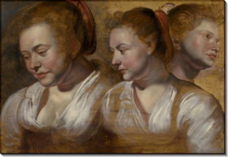 Женщина в трех ракурсах - Йорданс, Якоб