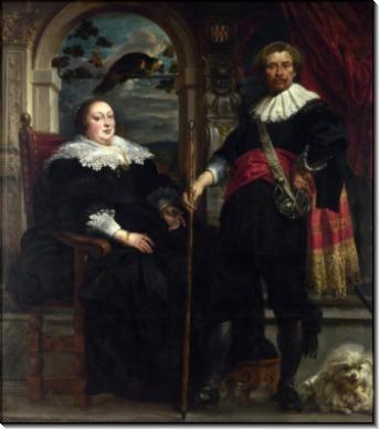 Говарт ван Сюрпеле с женой - Йорданс, Якоб
