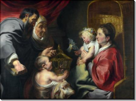 Мадонна с Младенцем со святым Иоанном Крестителем и его родителями - Йорданс, Якоб
