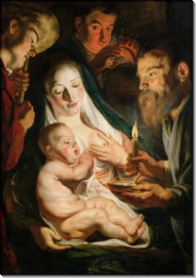 Святое Семейство с пастухами - Йорданс, Якоб