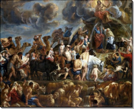 Моисей высекает воду из скалы - Йорданс, Якоб