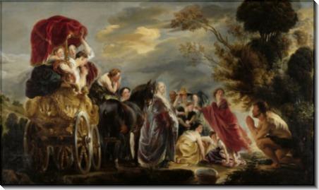 Встреча Одиссея и Навсикаи - Йорданс, Якоб