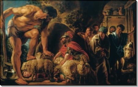 Одиссей и Полифем - Йорданс, Якоб