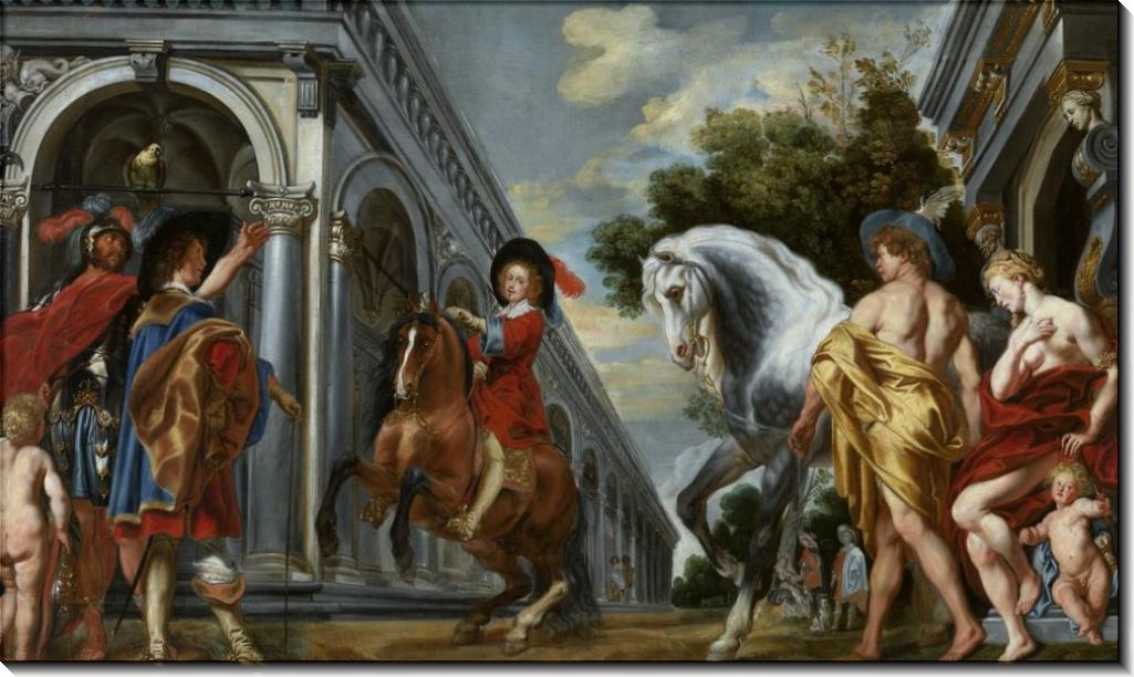 Объездка коня - Йорданс, Якоб