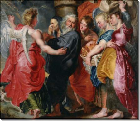 Бегство Лота с дочерьми из Содома - Йорданс, Якоб