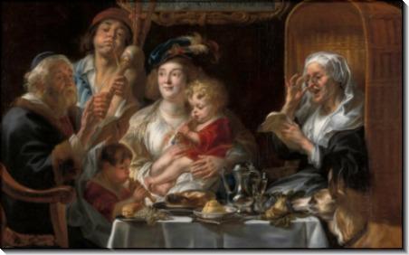 Семейный концерт (Вслед за песней стариков молодёжь щебечет) - Йорданс, Якоб