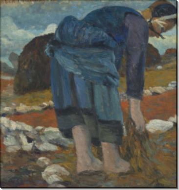 Бретонка, собирающая морские водоросли - Делоне, Роберт