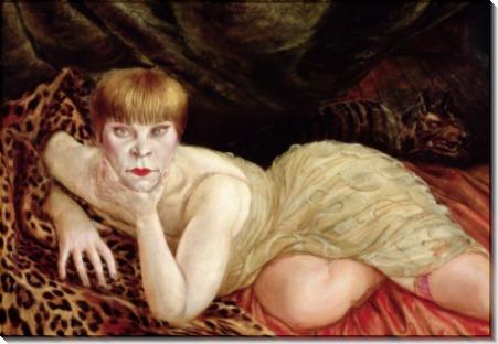 Женщина на леопардовой шкуре - Дикс, Отто