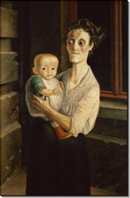 Женщина с ребенком - Дикс, Отто