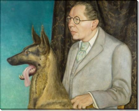 Хуго Эрфурт со своей собакой - Дикс, Отто