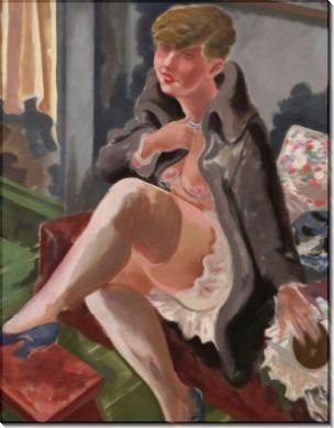 Сидящая женщина (Лотте Шмальхаузен) - Грос, Георг