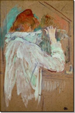 Женщина, завивающая свои волосы - Тулуз-Лотрек, Анри де