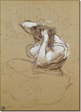 Женщина, укладывающая волосы - Тулуз-Лотрек, Анри де