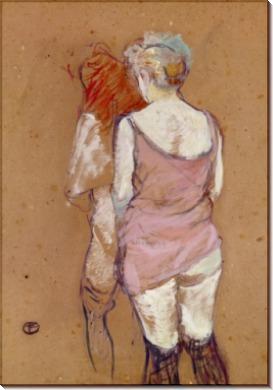 Две полуобнаженные женщины - Тулуз-Лотрек, Анри де