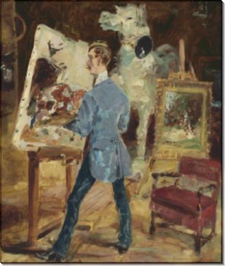 Принсто в своей мастерской - Тулуз-Лотрек, Анри де