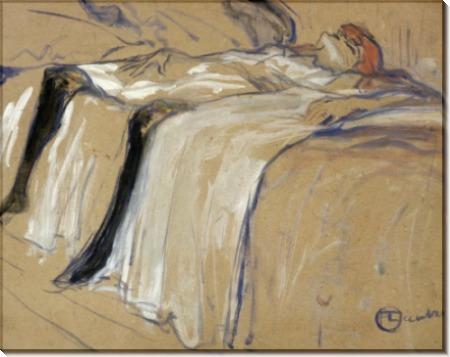Женщина, лежащая на кровати - Тулуз-Лотрек, Анри де
