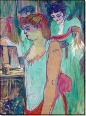 Дама с татуировкой (Туалет дамы) - Тулуз-Лотрек, Анри де