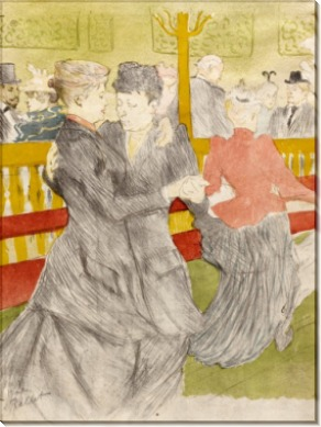 Танец в Мулен Руж - Тулуз-Лотрек, Анри де