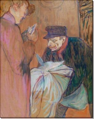 Работник прачечной в борделе - Тулуз-Лотрек, Анри де