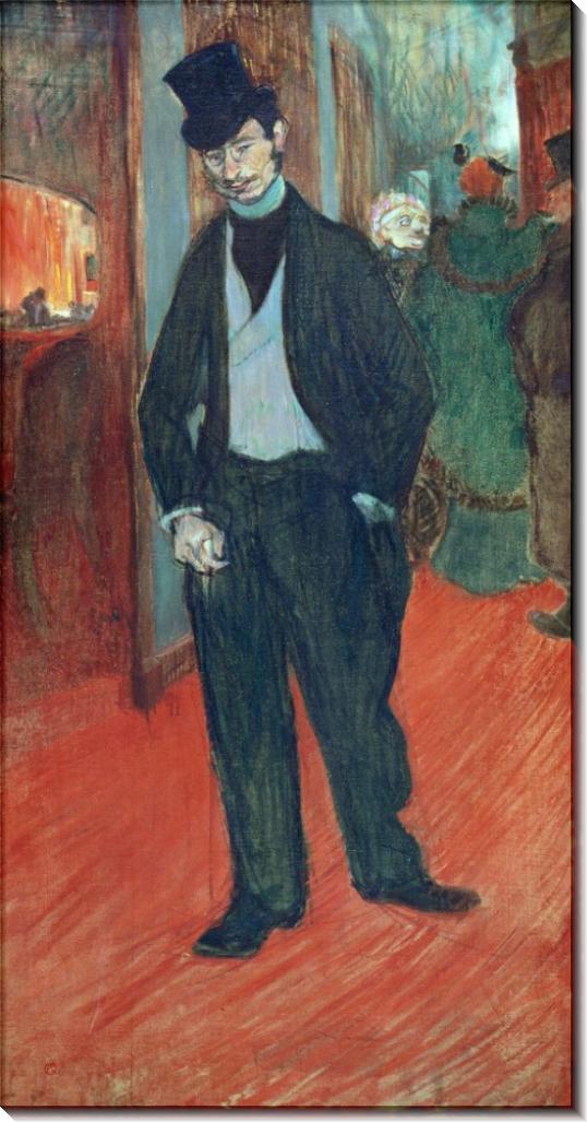 Доктор Габриэль Тапи де Селейран в коридоре театра - Тулуз-Лотрек, Анри де